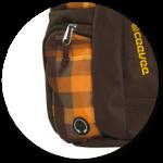 zwei Seitentaschen mit Reißverschluss