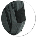 dehnbare Außentaschen aus Netzmaterial