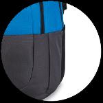 zwei dehnbare Seitentaschen