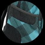Seitentaschen mit Mesh-Einsatz