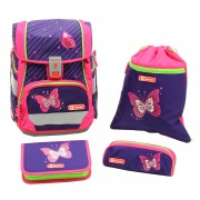 847e2291fb9d0 Step by Step Schulranzen Set 4-tlg. 2in1 Shiny Butterfly