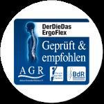 DerDieDas Ergoflex empfehlenswert ausgezeichnet von der Aktion Gesunder Rücken e.V.