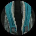 ergonomische Schulterträger und Airstripes Rückensystem