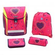 a6c6e941a4b68 Herlitz Schulranzen-Set 4-tlg. Midi Plus Pink Hearts
