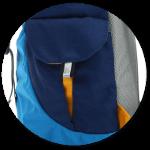 Seitentaschen mit Klettverschluss