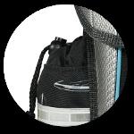 Verschließbare Seitentaschen