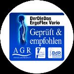 DerDieDas Ergoflex Vario empfehlenswert ausgezeichnet von der Aktion Gesunder Rücken e.V.