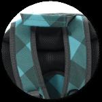 ergonomisch geformte Schulterträger