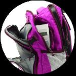 viele Fächer und Taschen bei YZEA Air