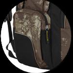 aufgesetzte Seitentaschen mit Reißverschluss