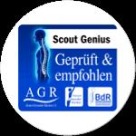 Scout Genius empfehlenswert ausgezeichnet von der Aktion Gesunder Rücken e.V.