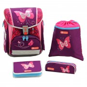 c43847b0cf58e Step by Step Schulranzen Set 4-tlg. Touch 2 Flash Shiny Butterfly