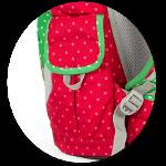 Seitentaschen des mini mit Klettverschluss