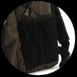 zwei Netz-Seitentasche