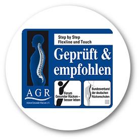 Der Step by Step Comfort trägt das AGR Sigel