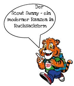 Der Scout Sunny - Schulranzen in Rucksackform