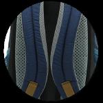 Airstripes Rückensystem und ergonomische Träger