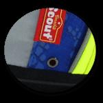 Seitentaschen mit Abflussöffnung