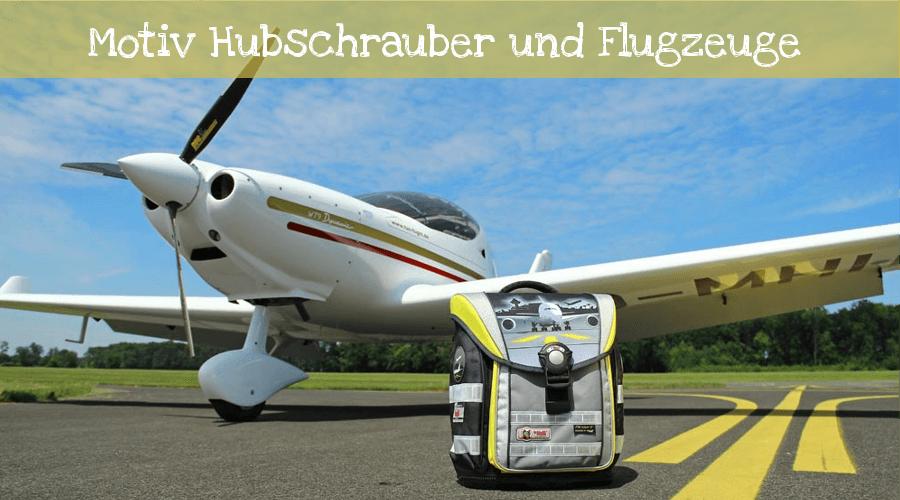 Hubschrauber und Flugzeuge