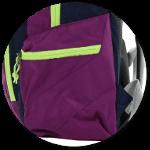 Seitentasche mit Reißverschluss