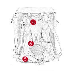 Der Step by Step Schulranzen Flexline in der Rückansicht