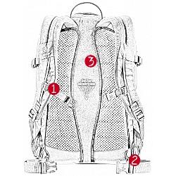 Der Gigant Rucksack von Deuter in der Rückansicht