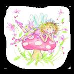 lillifee auf einem Fliegenpilz